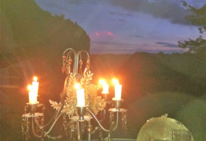 candle lit evening