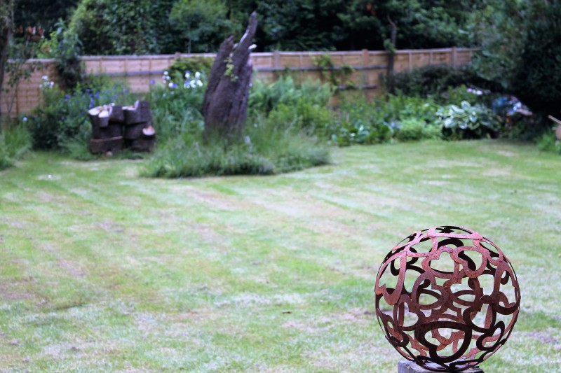 globe in the back garden