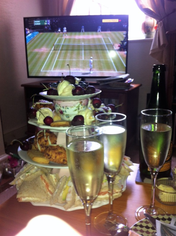 bubbles and afternoon tea