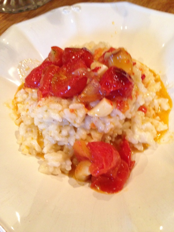 tomato, garlic & chilli risotto