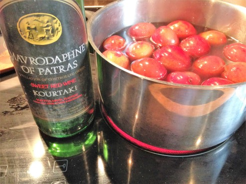 poaching plums