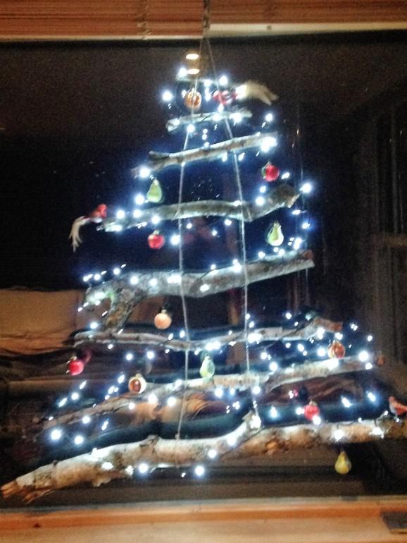 silver birch christmas tree