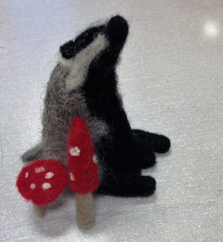 the finished badger
