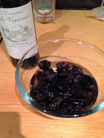 prunes soaked in wines