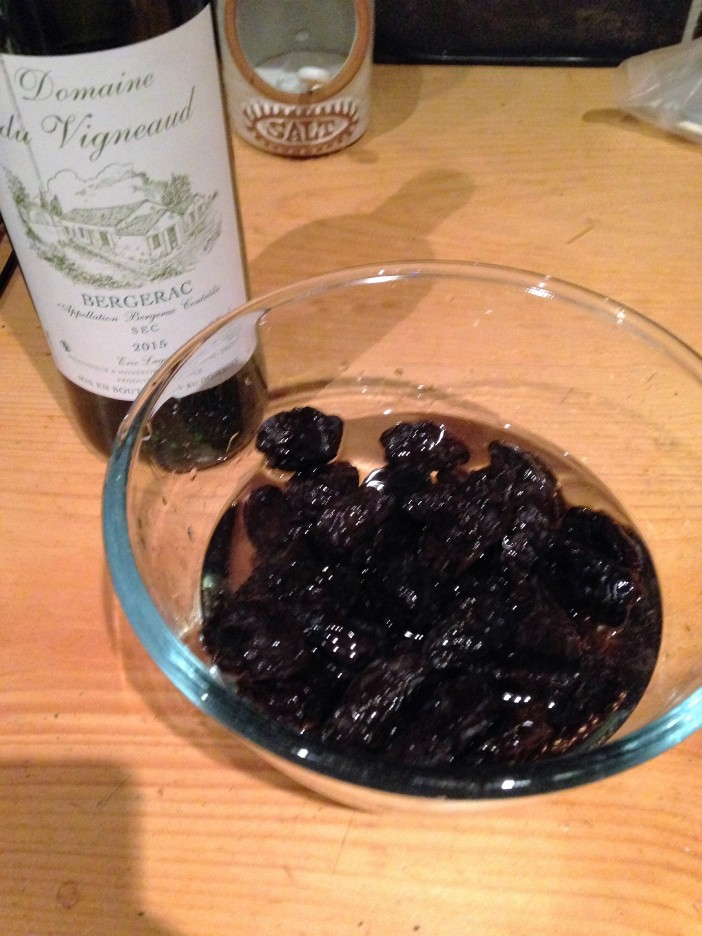 prunes soaked in wines