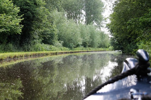 chugging along the canal