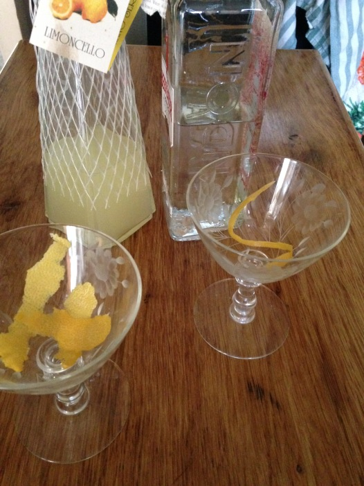 Limoncello and Gin Cocktail