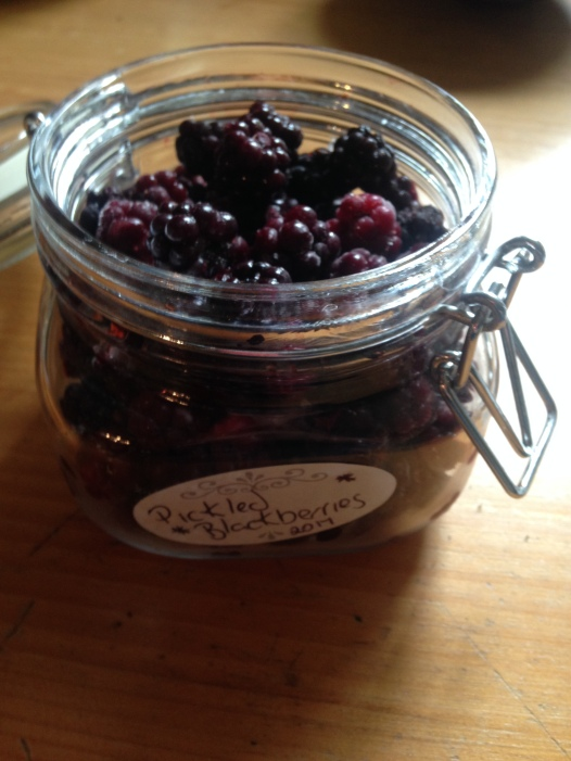 pickled blackberries
