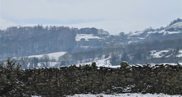 snow and view towards kentmere